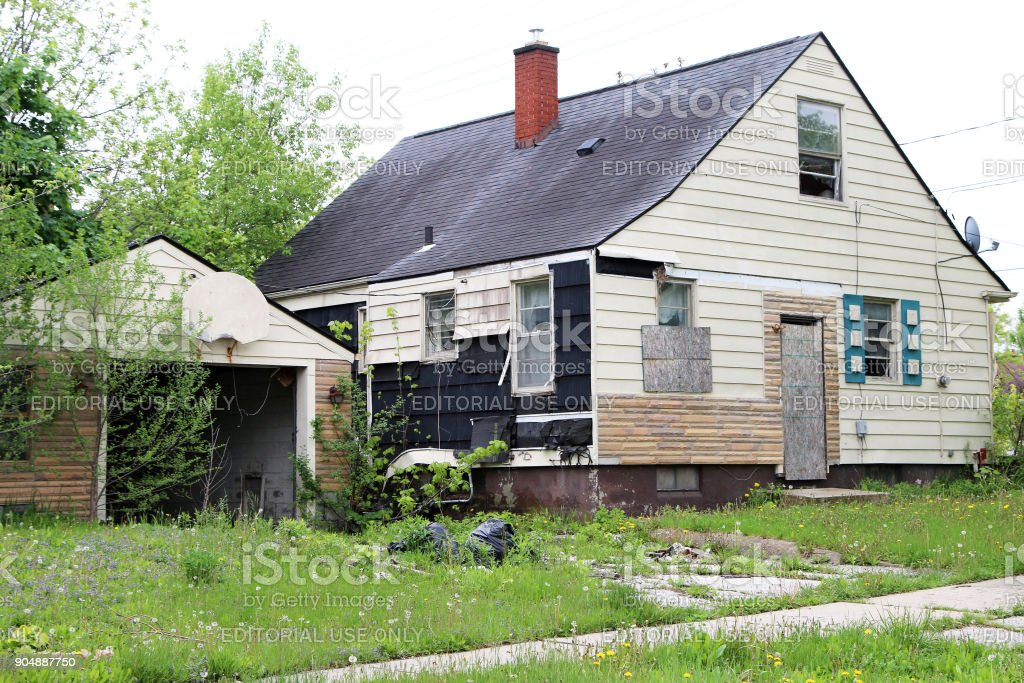 Abandoned home stock photo
