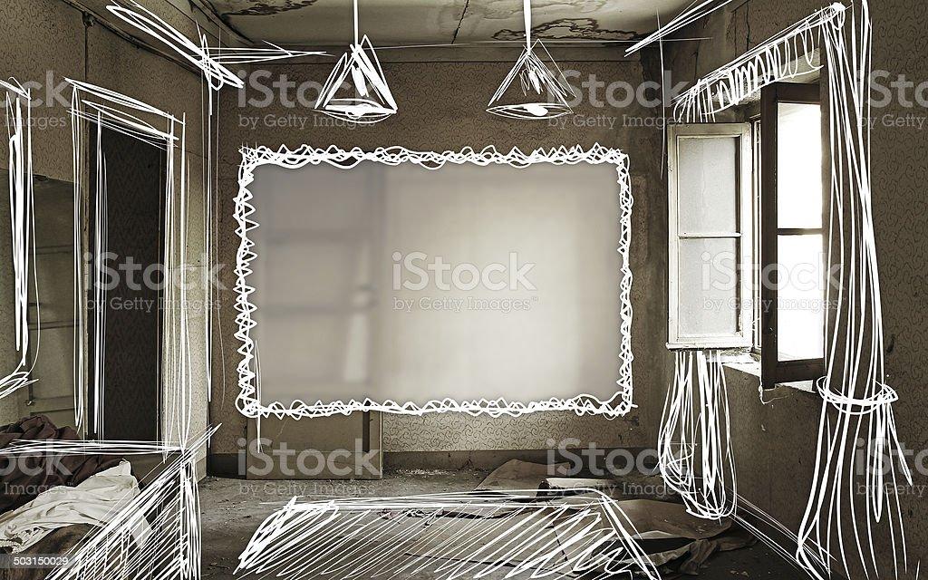Abandoned Home Renovation stock photo