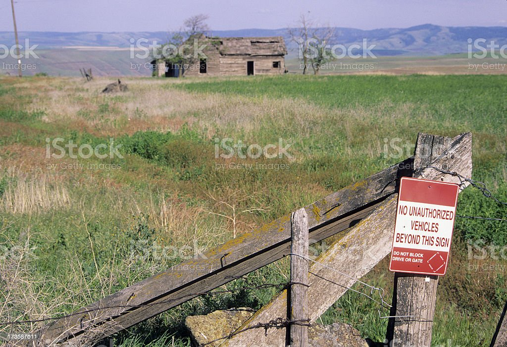 Abandoned homestead in Washington state royalty-free stock photo