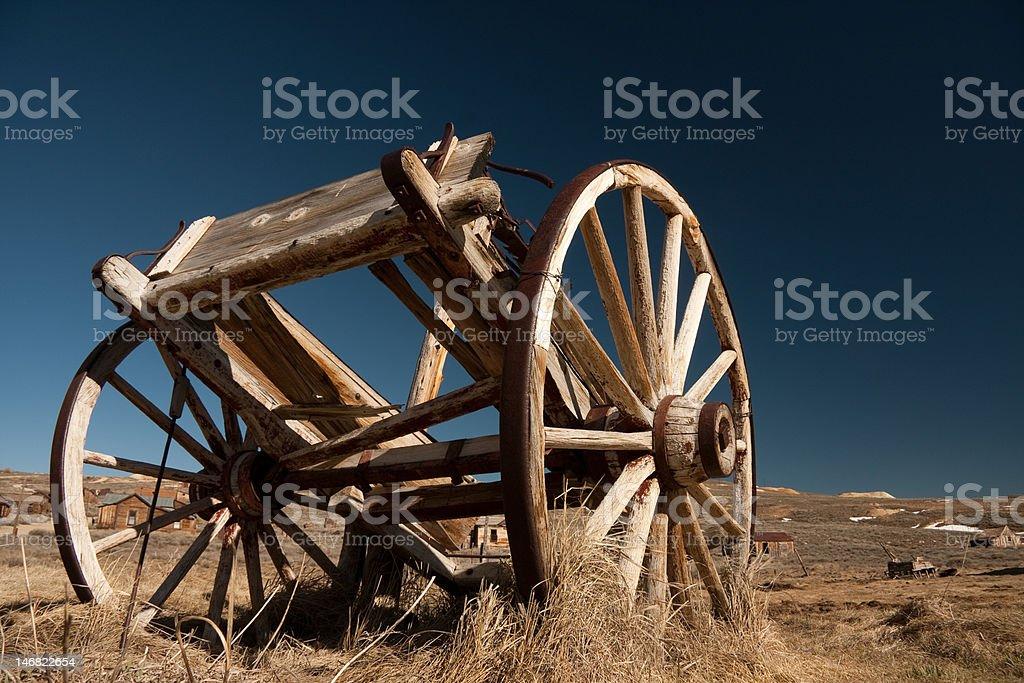 Abandoned horse cart royalty-free stock photo