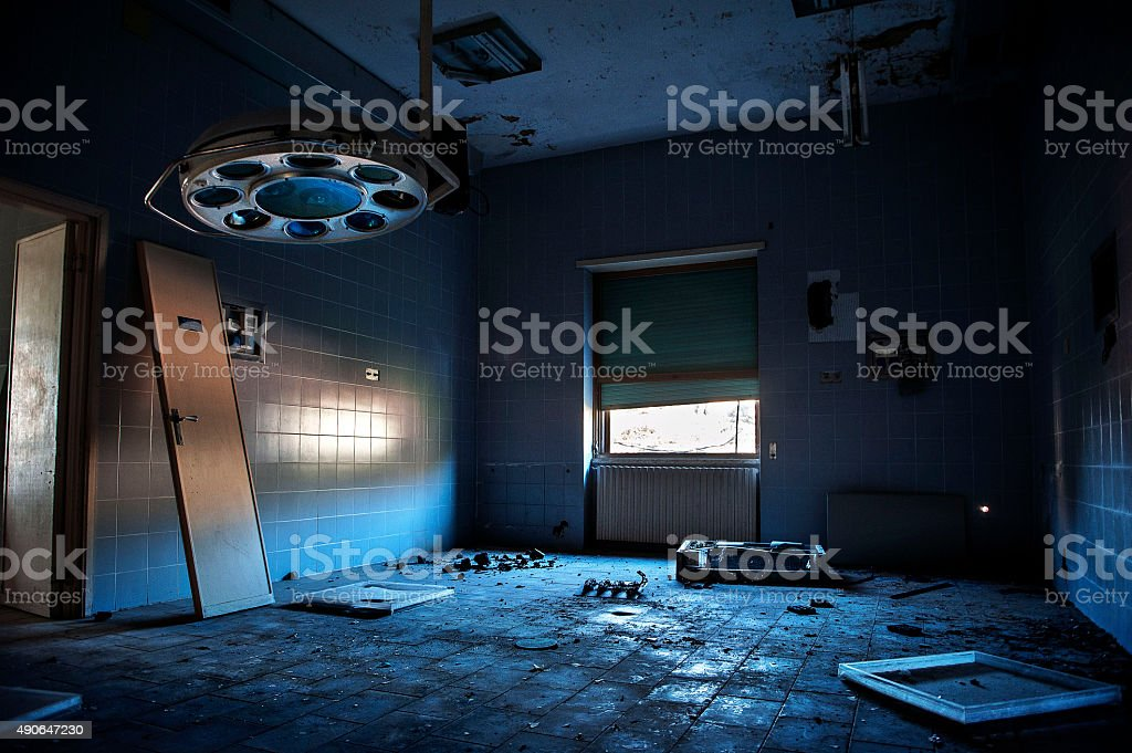 Abandoned hospital stock photo
