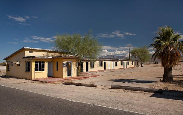 Abandoned Hotel Along Route 66 stock photo