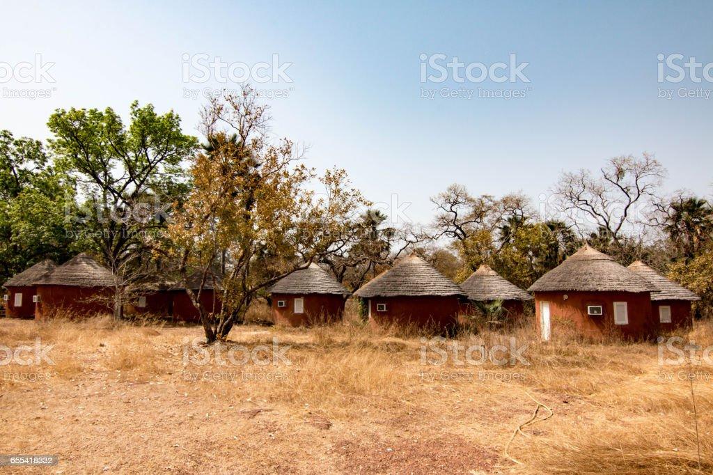 Abandoned hotel in Niokolo-Koba National Park, Senegal stock photo