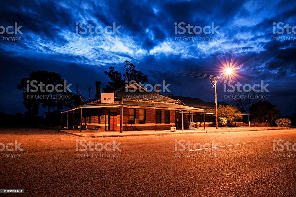 Abandoned hotel in Outback, Western Australia, Australia stock photo