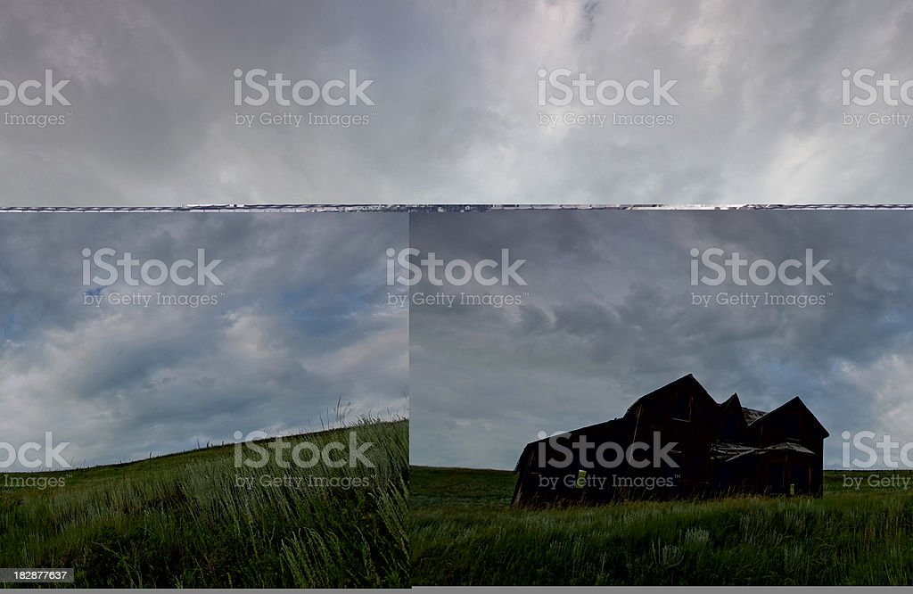 Abandoned House and Sky royalty-free stock photo