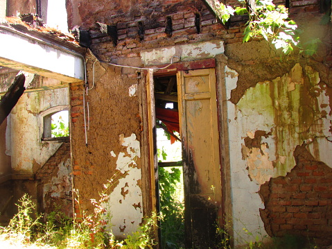 Old style and abandoned house in Putagan, Central Chile, Maule