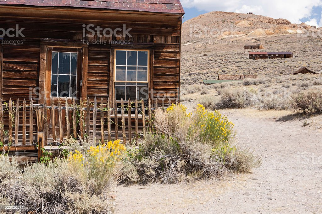 Abandoned house, Bodie ghost town, USA stock photo