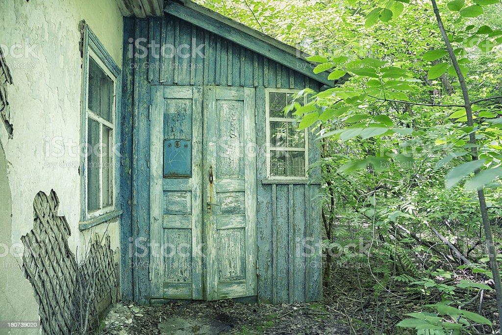 Abandoned House, Chernobyl, Ukraine stock photo