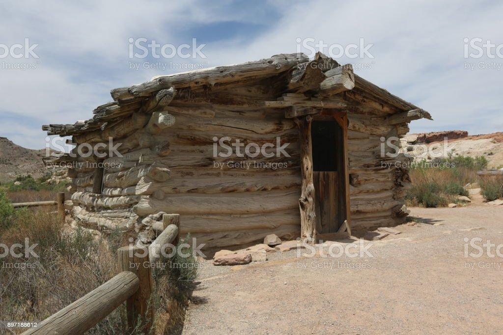 Abandoned house in Arizona stock photo