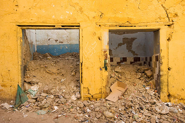 Abandoned house in Aswan, Egypt stock photo