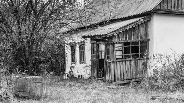 Verlaten huis in Wit-Rusland foto