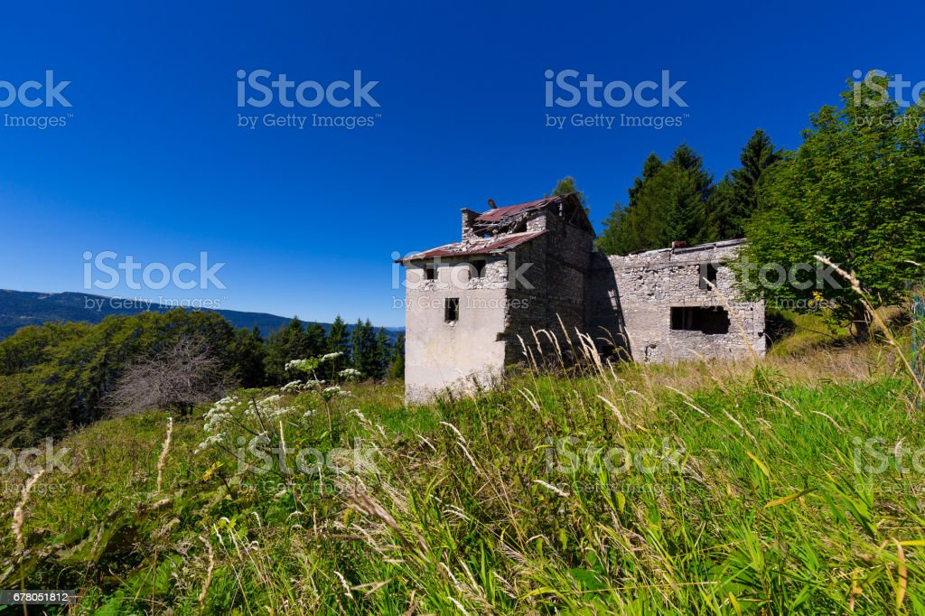 Abandoned House In Northern Italy stock photo