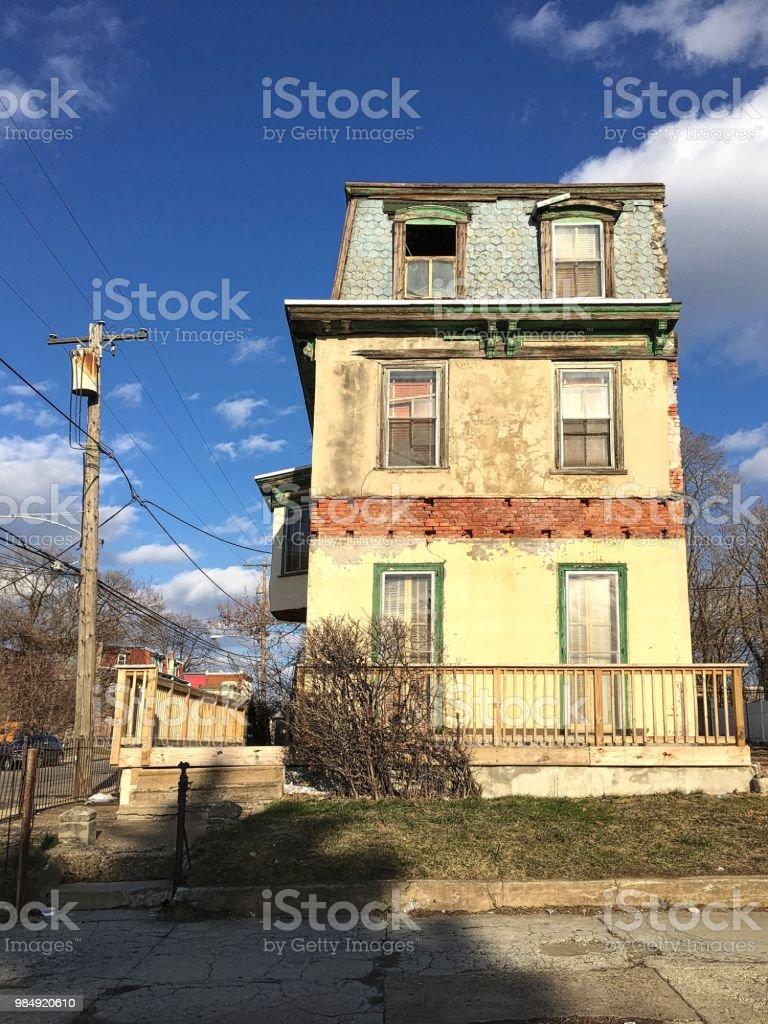 Casa abandonada em Filadélfia - foto de acervo