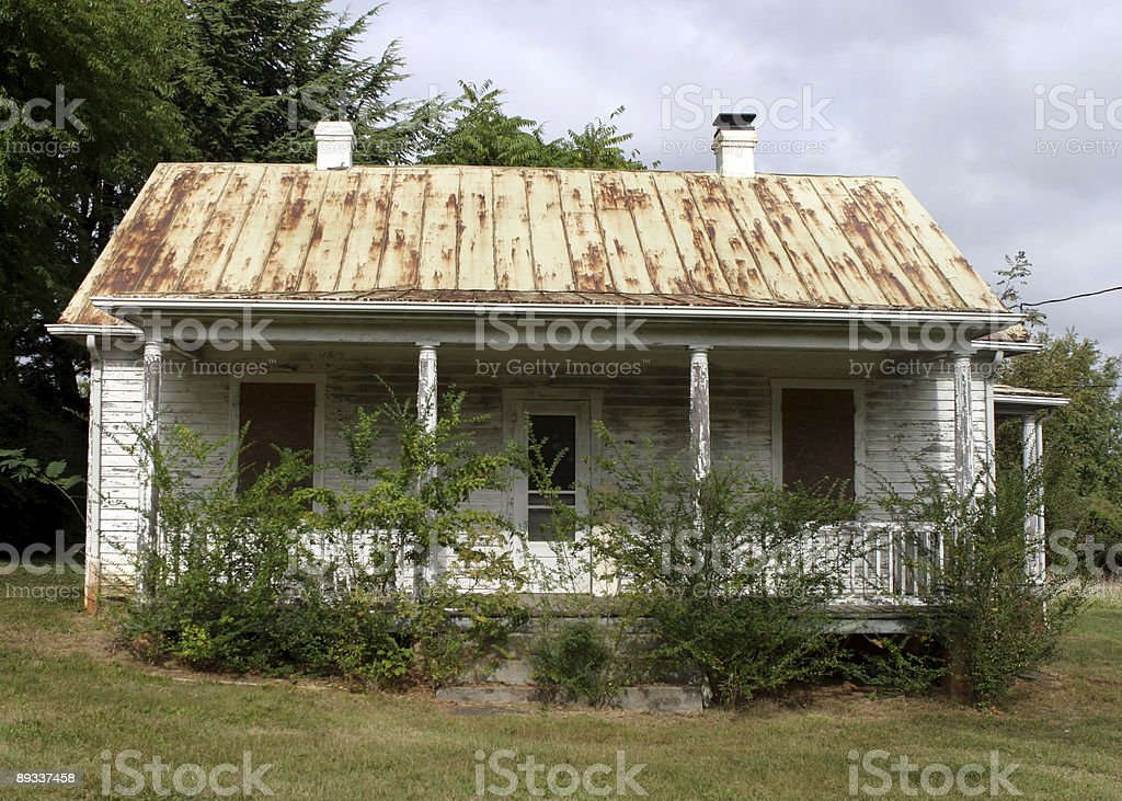 Abandoned House in Rural America stock photo