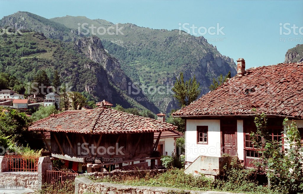 Abandoned house - Asturias royalty-free stock photo