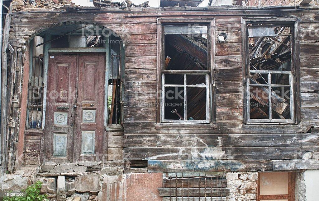 Abandoned house in Turkey royalty-free stock photo