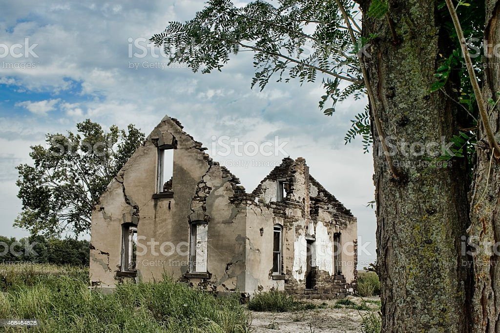 Abandoned House - Kansas stock photo