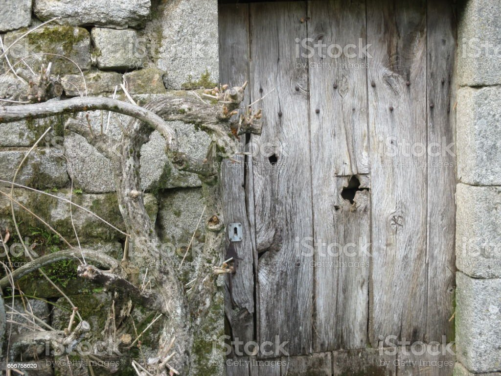 maison labandon vieille porte dentr e en bois stock photo more pictures of abandoned istock. Black Bedroom Furniture Sets. Home Design Ideas