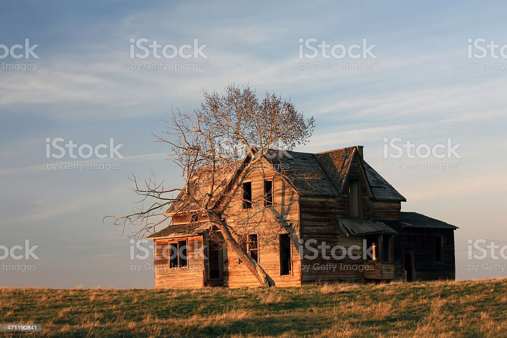 Abandoned House on the Prairie royalty-free stock photo