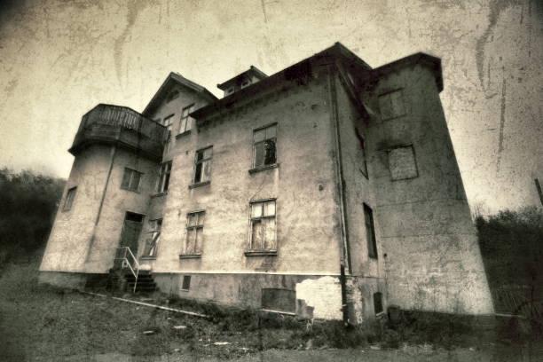 casa abandonada - sepia imagen virada fotografías e imágenes de stock