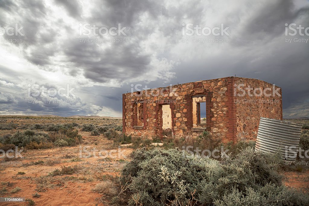 Abandoned house, Silverton, Australia stock photo