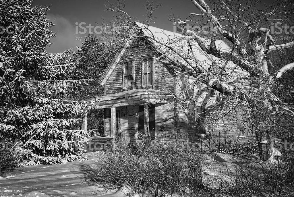 Abandonada House-Springhill Junction, Nova Escócia - foto de acervo
