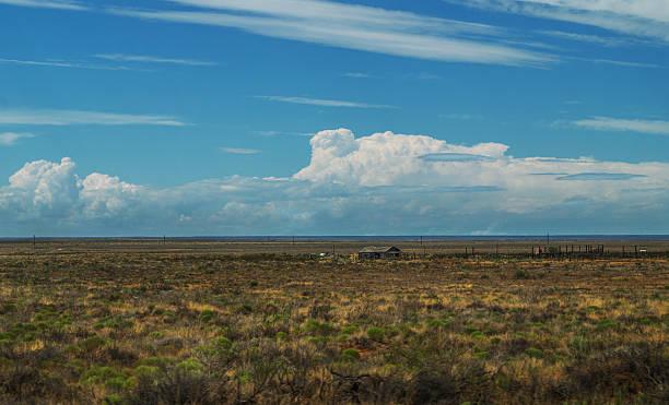 abandoned house west Texas landscape stock photo