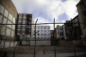 Abandoned houses city