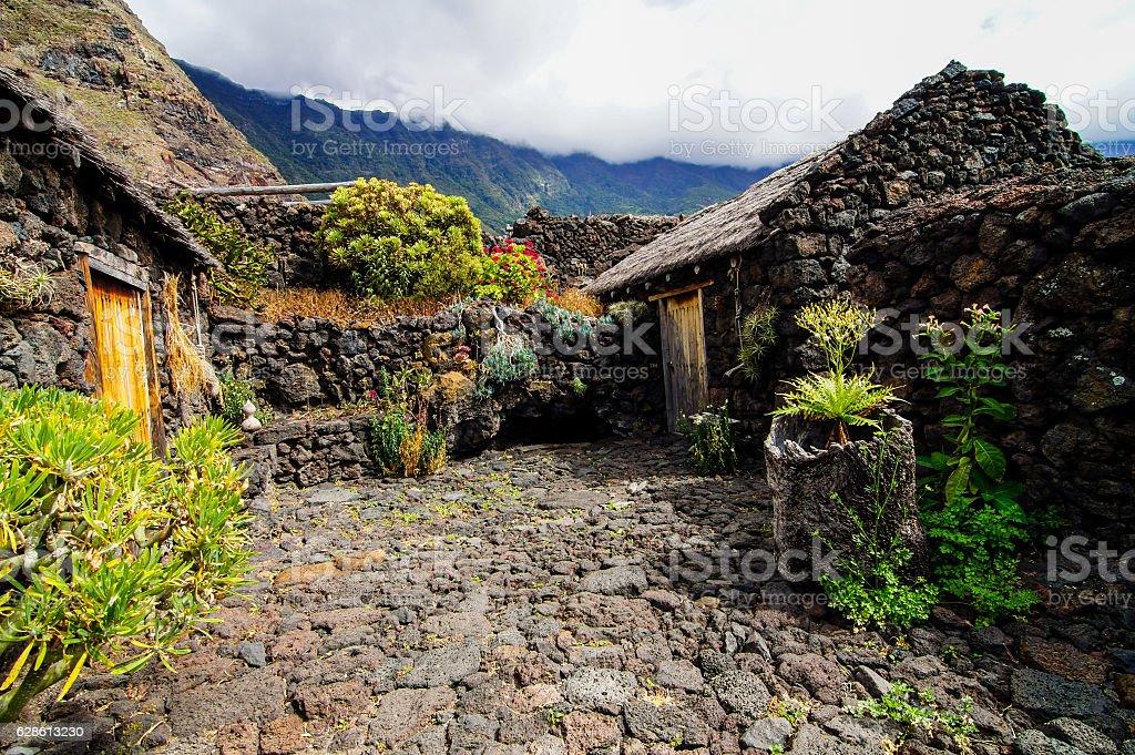 Abandoned Houses In El Hierro Island stock photo
