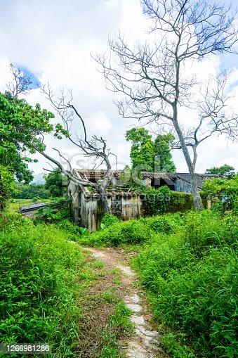 istock Abandoned houses in Yim Tin Tsai, Sai Kung Village, Hong Kong 1266981286