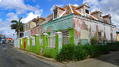 Abandoned Houses in the Pietersnmaai District of Willemstad on the Caribbean Island of Curacao