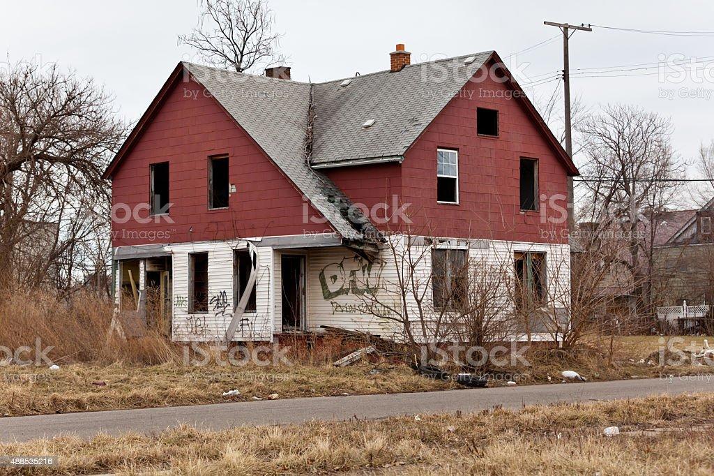 Abandoned houses stock photo