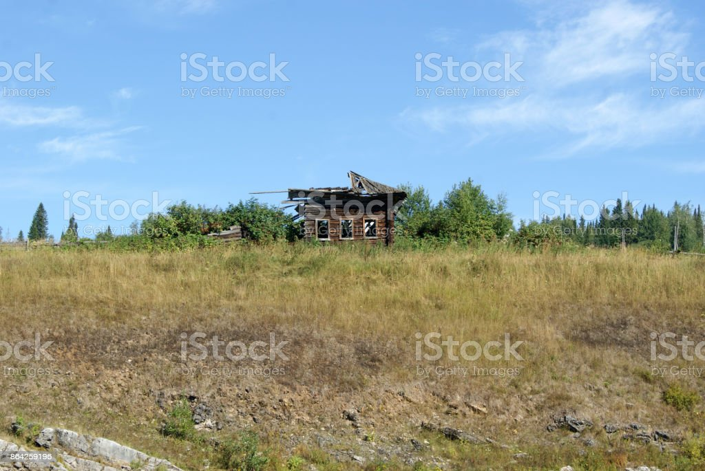 abandoned hut royalty-free stock photo