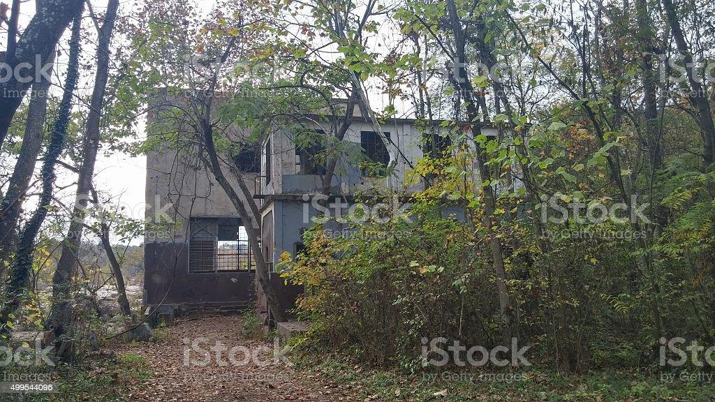 Abandoned Hydro-Electric Power Plant, Belle Isle, Richomnd, Virginia stock photo