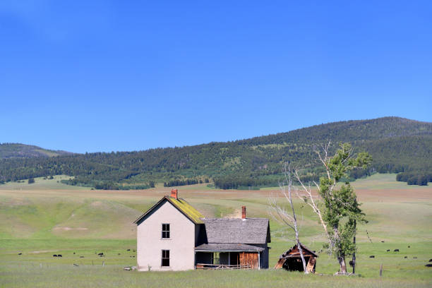 Prime Abandoned Idaho Ranch House Stock Photo Download Image Now Download Free Architecture Designs Grimeyleaguecom