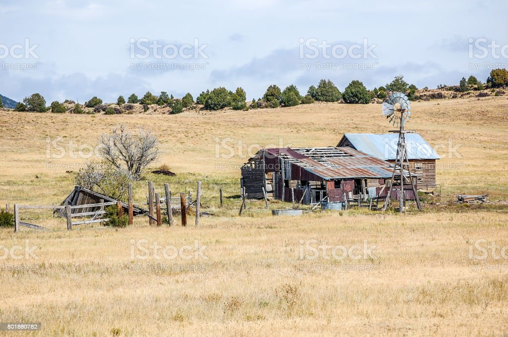 Abandoned in the Country stock photo