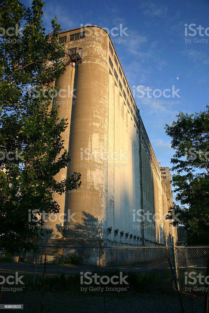 Abandoned Industrial Building in the old Montreal stock photo