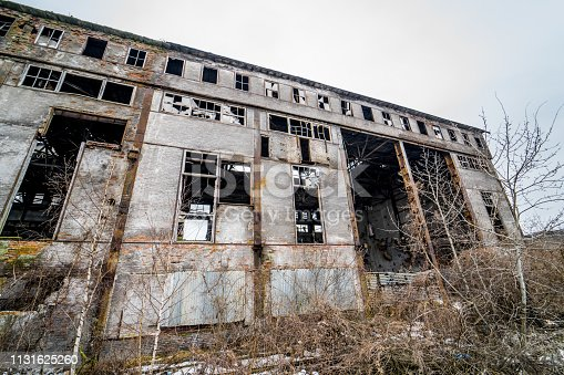 istock Abandoned industrial building. 1131625260