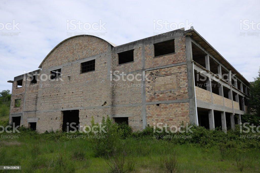 Abandonné Bâtiment industriel photo libre de droits