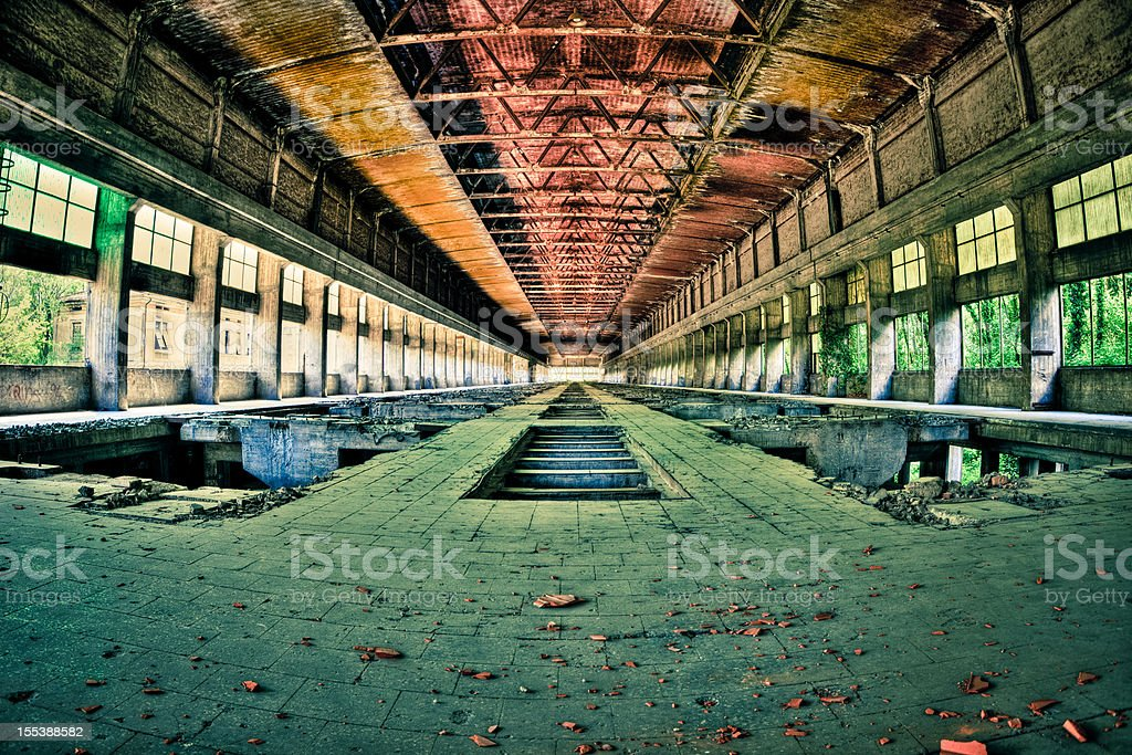 Abandoned Industrial Factory, HDR royalty-free stock photo
