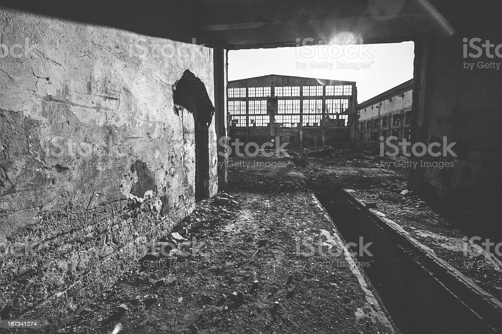 Abandoned industrial. royalty-free stock photo