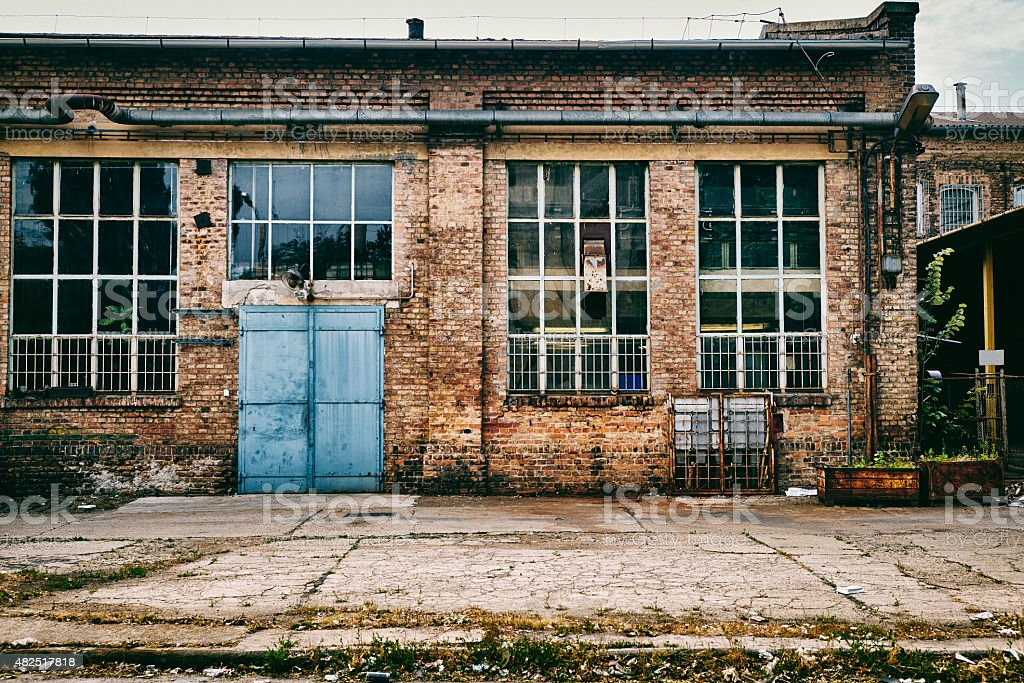 Abandoned industry stock photo