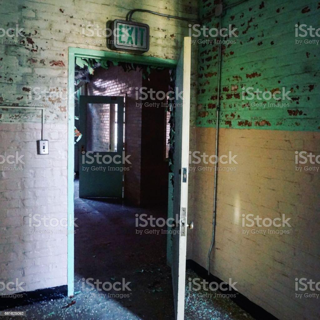 Abandoned Insane Asylum stock photo