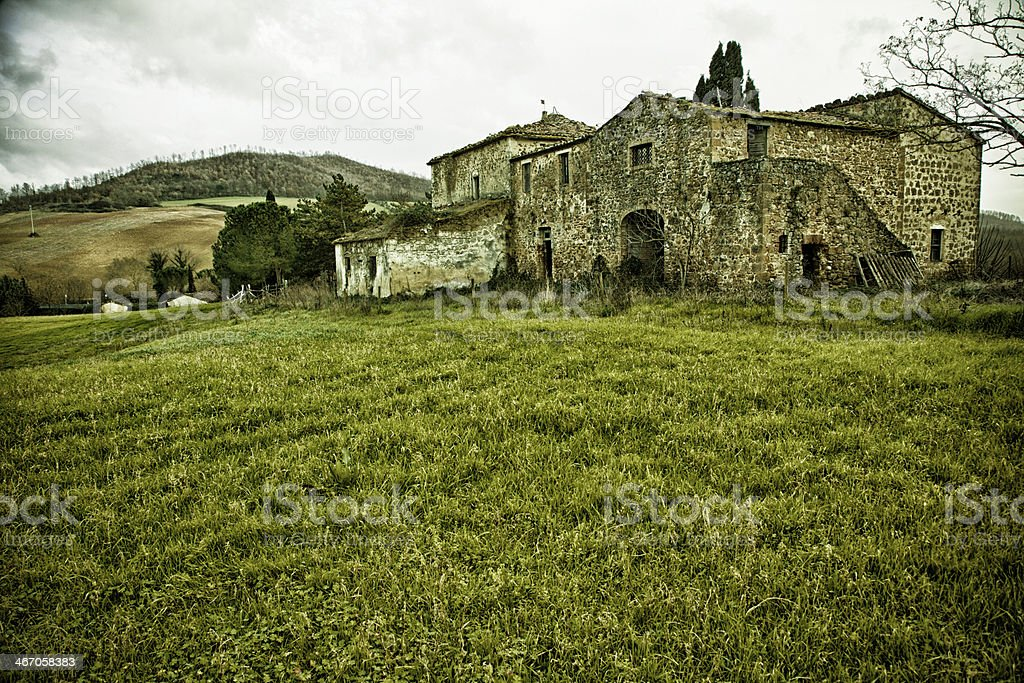 Abandoned Italian Farm royalty-free stock photo