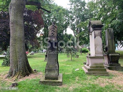 Abandoned  jewish cemetery in Kassel