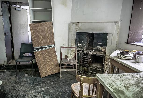 Abandoned Kitchen stock photo