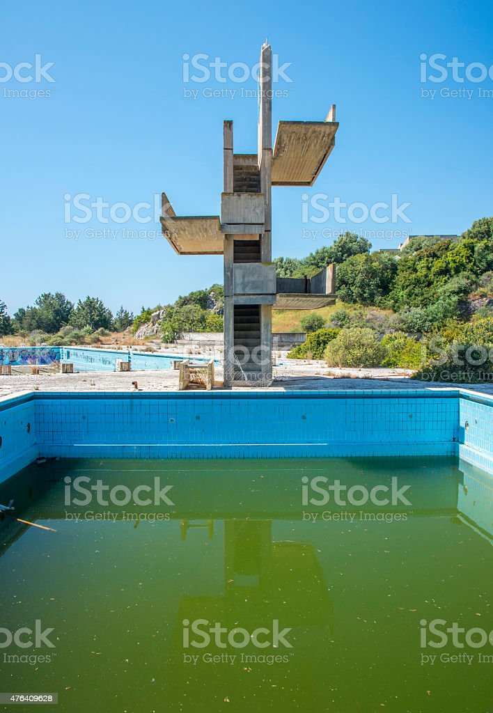 Abandoned Lido On Rhodes Greece Stock Photo Download Image Now Istock
