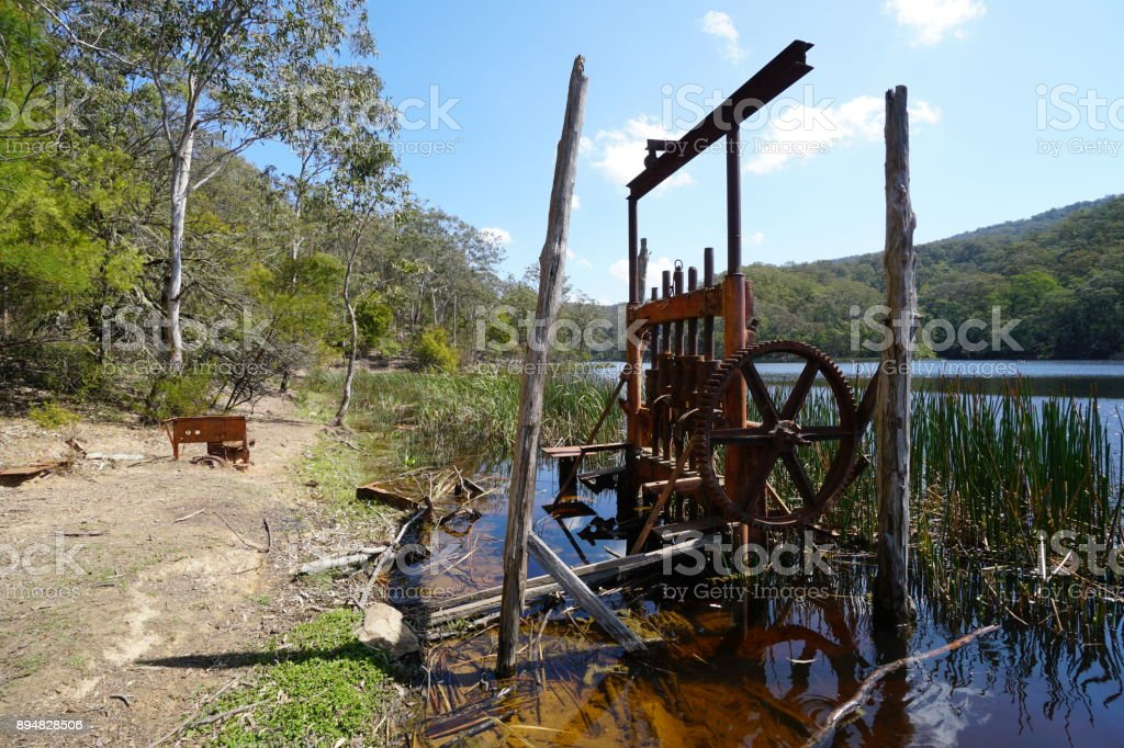Abandoned Machinery From The Gold Rush In Rural New South