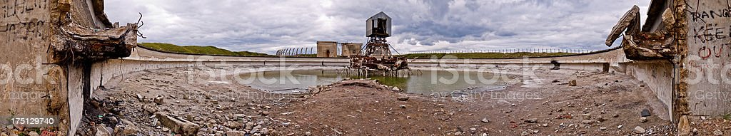 Abandoned magnesium production site panoramic royalty-free stock photo