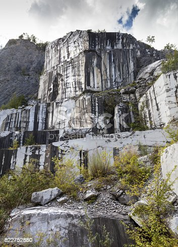 Abandoned marble mine in italy